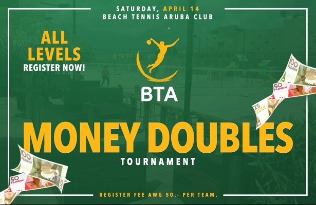 MONEY DOUBLES TOURNAMENT SATURDAY APRIL 14 = FULL, ONLY OPEN WOMEN DOUBLES & INTERMEDIATE MEN DOUBLES LEVEL HAS SPOT 1 LEFT!